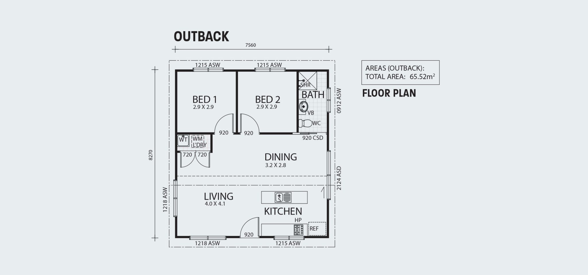 Outback R65 Floorplan