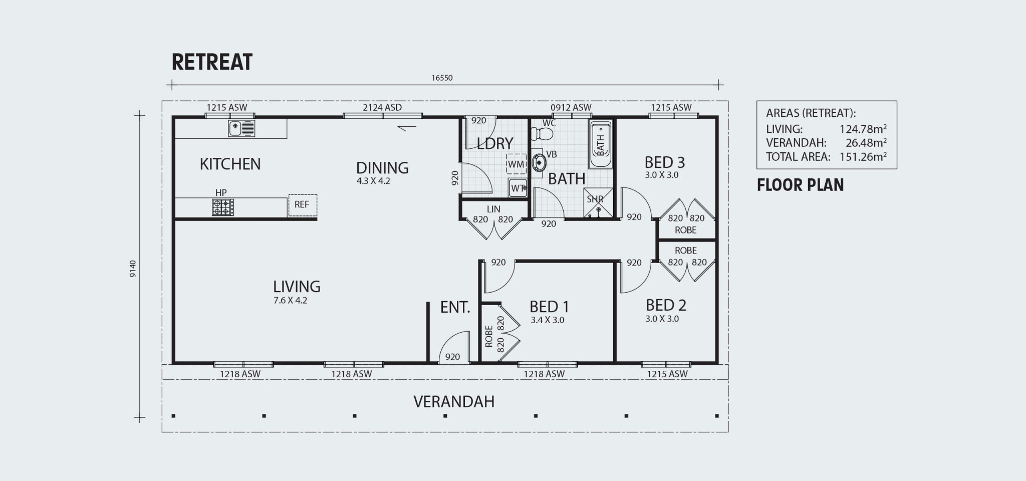 Retreat R151 Floorplan