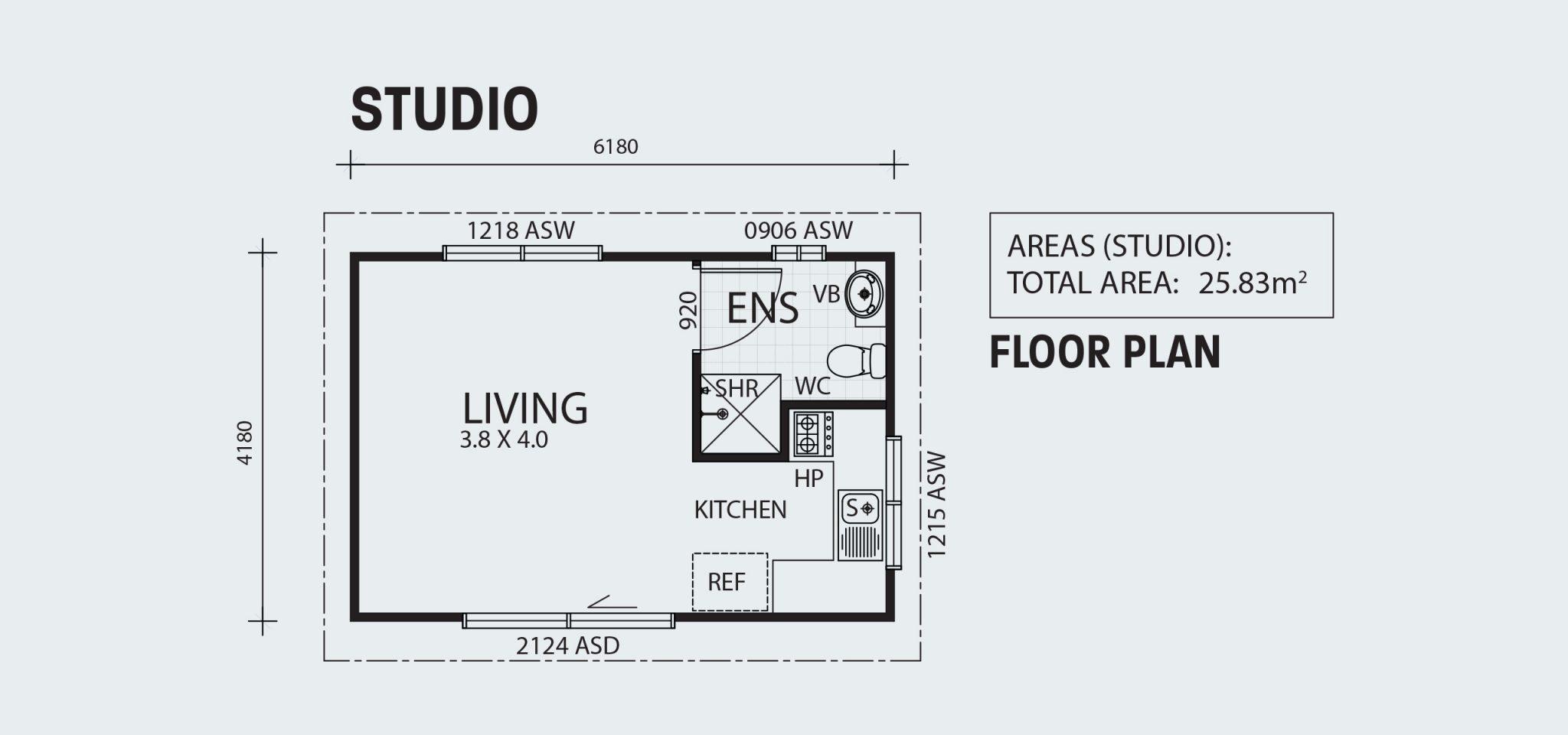 Studio R25 Floorplan