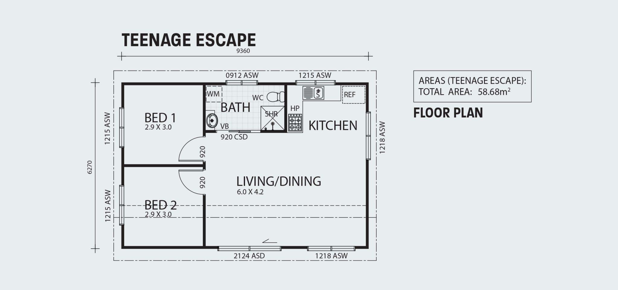 Teenage Escape R58 Floorplan
