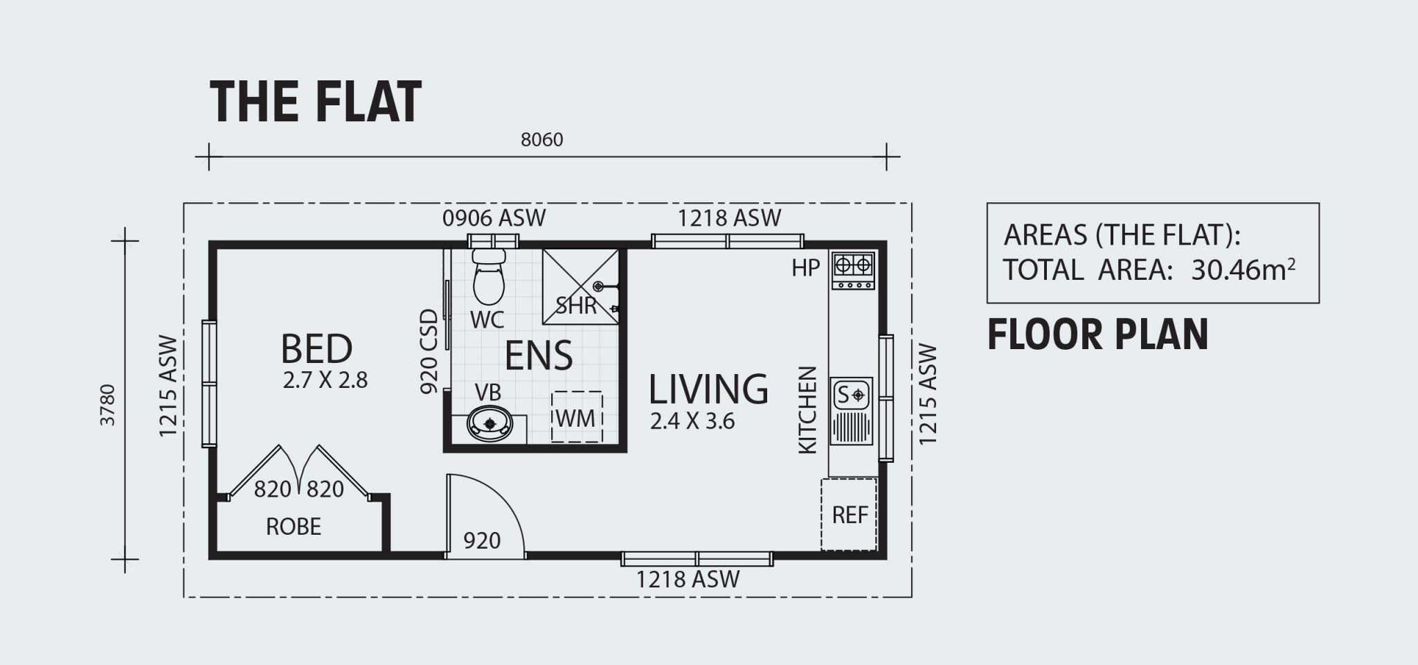The Flat R30 Floorplan